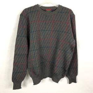 Vtg Wynbrier Large Wool Gray Pullover Sweater